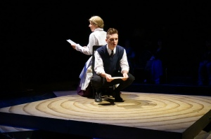 "Nancy Von Euw and Myles McCarthy in SPRING AWAKENING ""McCarthy does a hauntingly beautiful job of 'Don't Do Sadness'"" - Jo Ledingham, Vancouver Courier"